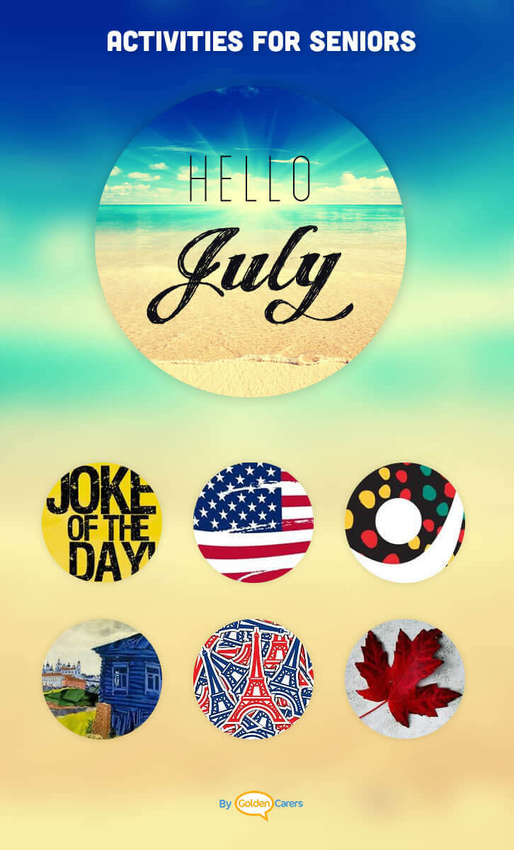 July events ideas activities calendar for Craft activities for seniors