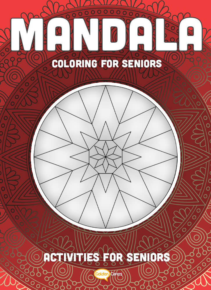 A relaxing mandala template for coloring