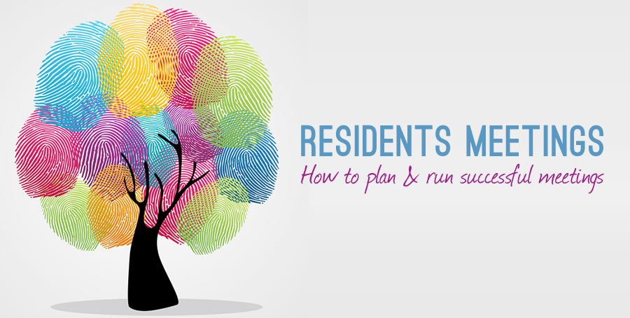 how to run a residents meeting