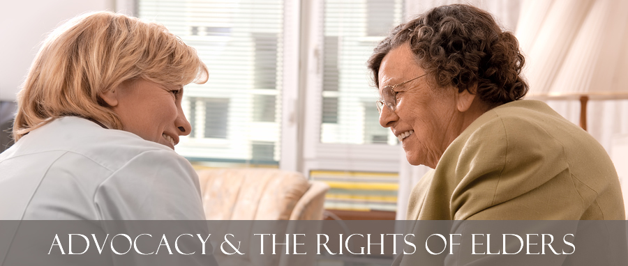 Advocacy is necessary to safeguard the rights of people at risk such as those living in residential aged care facilities or receiving home and community care services.