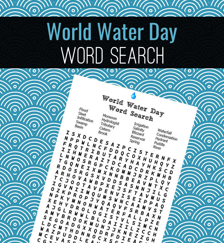 A water themed word search!
