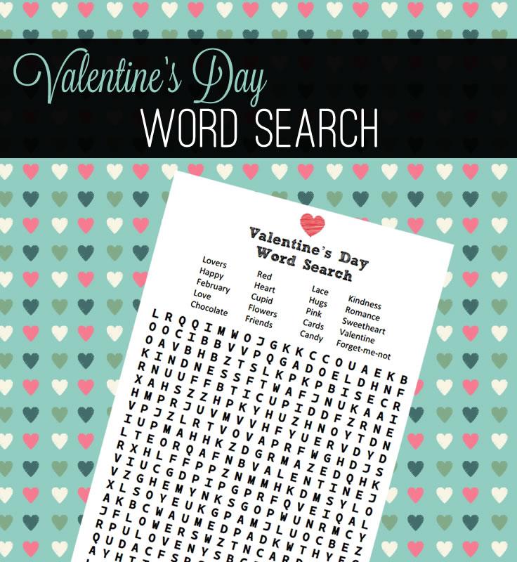 Celebrate Valentine's Day with a word finder!