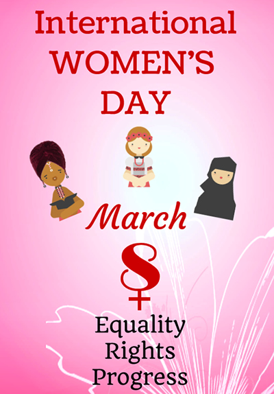 A poster for International Women's Day in March!