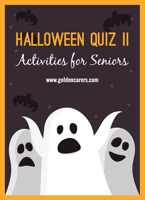Everyone loves a quiz! Here's another fun one for Halloween.