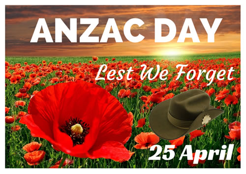 ANZAC Day Poster for printing.