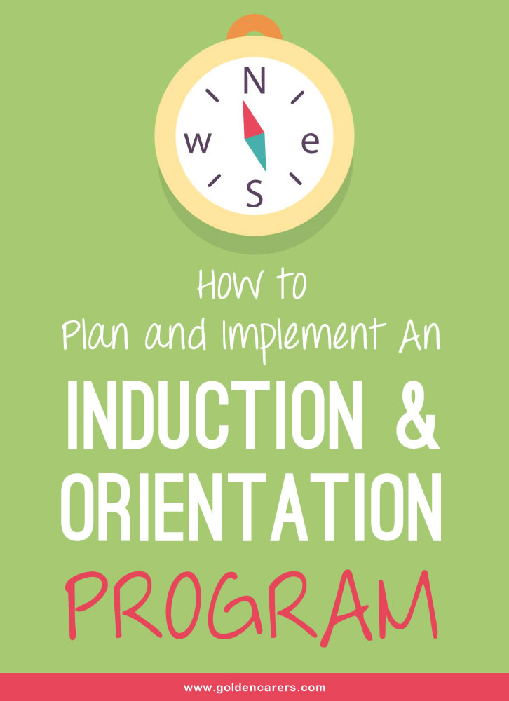 This article provides a general guide Activity Coordinators can use to plan and implement an Induction & Orientation Program; the specific requirements for each facility will differ.
