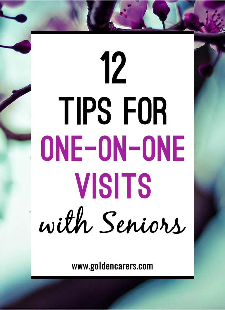Tips for one on one visits with seniors for Craft ideas for senior citizens