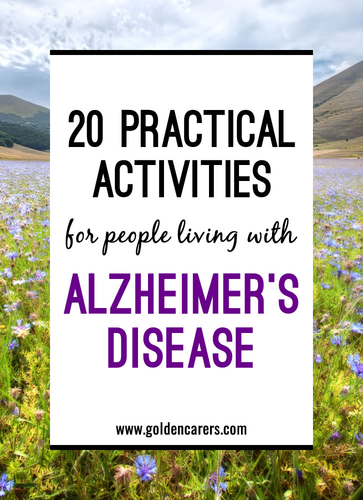 image relating to Free Printable Activities for Dementia Patients called 20 Hassle-free Routines for human beings residing with Alzheimers