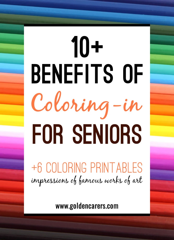 The Benefits Of Coloring In For The Elderly