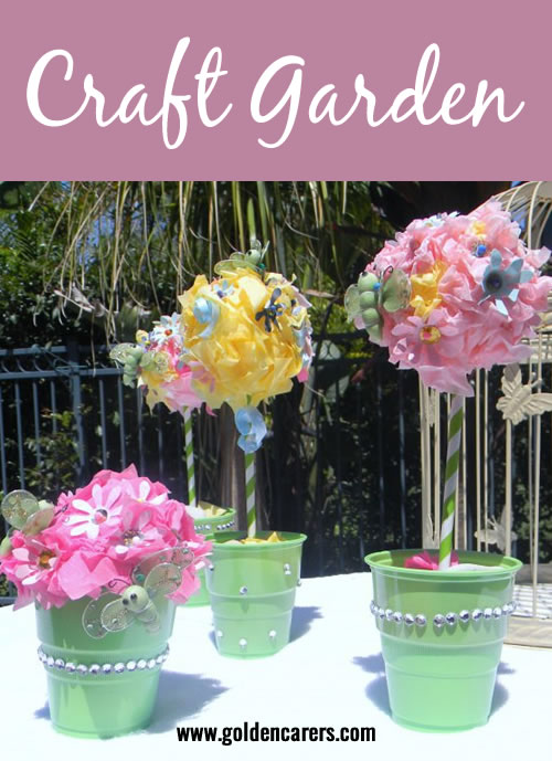 Create your own beautiful craft garden!This is a lovely activity perfect for a nursing home setting.