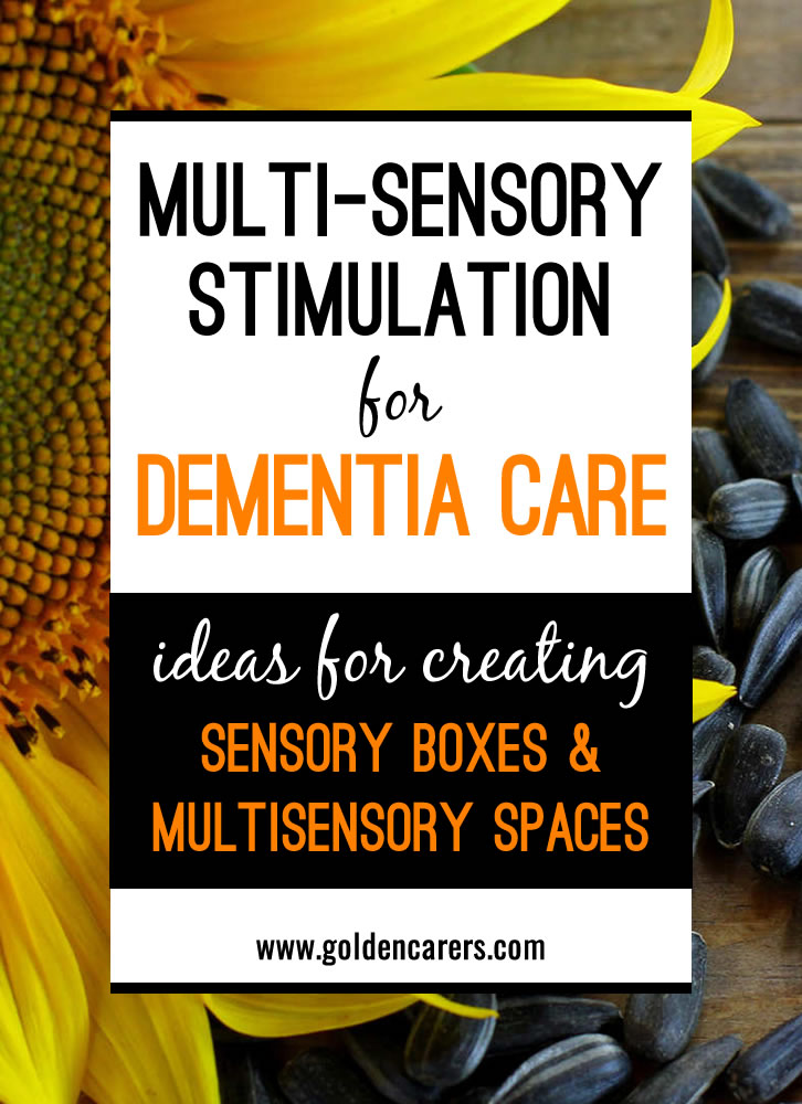 Sensory Boxes & Other Ideas To Stimulate The Senses
