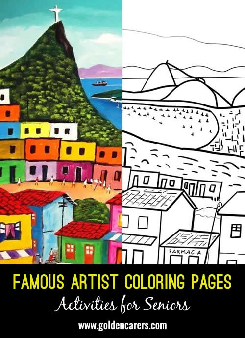 Famous Artist Coloring Pages: Here is an impression of a work of art by Fernando Medeiros