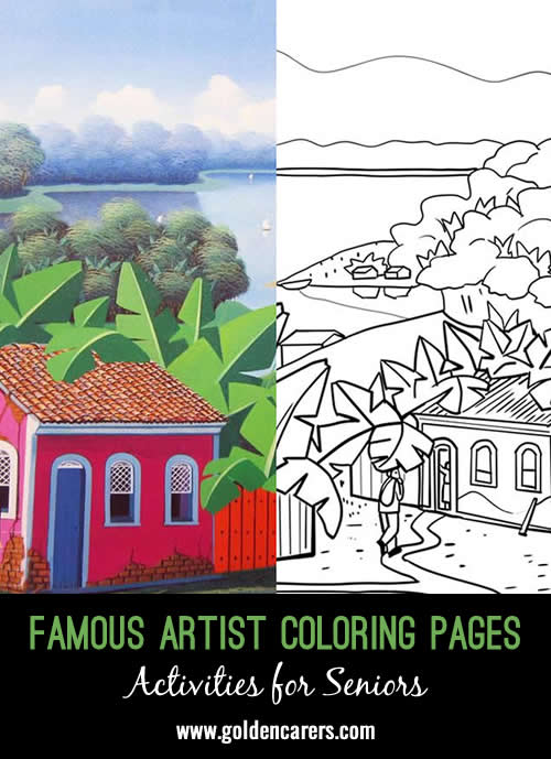 Famous Artist Coloring Pages: Here is an impression of a work of art by Totonho