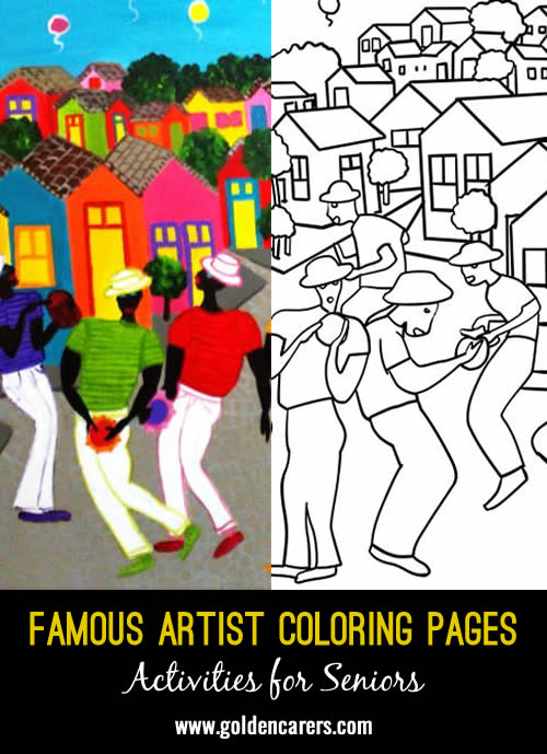 Famous Artist Coloring Pages: Here is an impression of a work of art by Ariane Krelling.