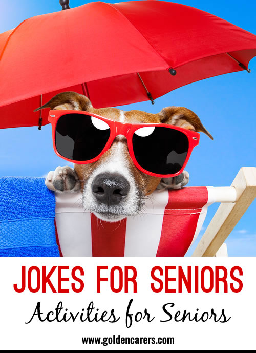 There's nothing like a good laugh! Scroll through for some hilarious jokes that have been shared by people working with seniors!. Please add your jokes to the comments section of this page!