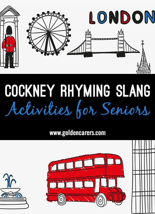 London's East End Rhyming Slang Expressions are on the way out. A survey of 2000 adults revealed that up to 80 percent of Londoners did not understand the slang.  Nevertheless, Londoners still enjoy coining new phrases by rhyming words.