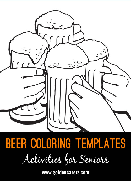 Beer Colouring Templates