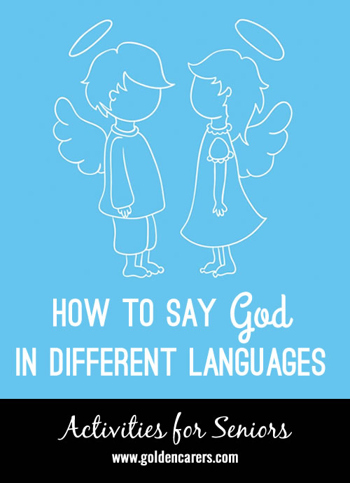 How to say God in 20+ other languages