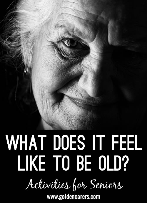We cannot even begin to grasp what elders have to cope with when age takes its toll on the body; to have declining dexterity, vision and mobility problems, to be unable to open a drawer or button a blouse...