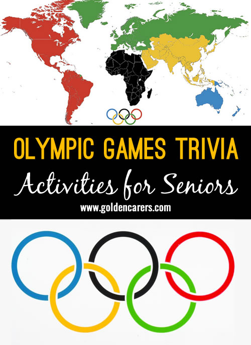 Wow! Some fascinating Olympics trivia you may not have come across before! A fun activity for seniors.