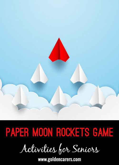 We have celebrated this wonderful event by making paper darts or planes to represent moon rockets as attached and launching each residents' dart in turn at a symbol on the floor, a few feet away, to represent the moon.