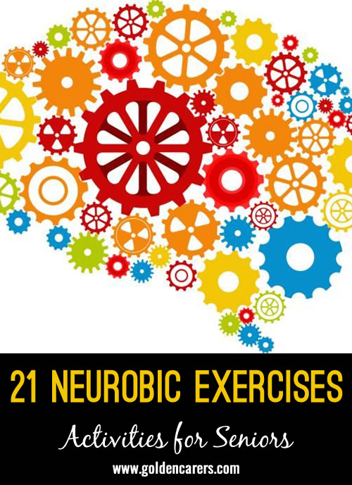 Give your clients a boost with some simple neurobics brain exercises! These mini-mentals are equivalent to cross-training your brain!