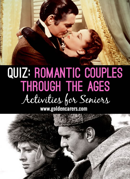 Make copies of this quiz and hand out to participants. Give each a pencil and ask them to join the sweet-hearts with a line. A fun nostalgia and reminiscing quiz for seniors.