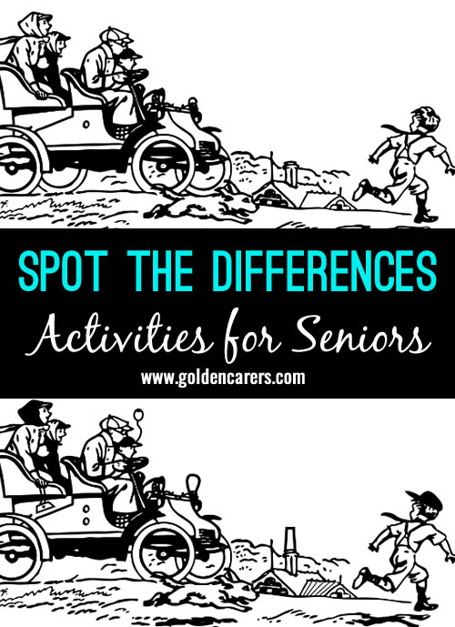 Another fun activity in our spot the differences series for seniors!