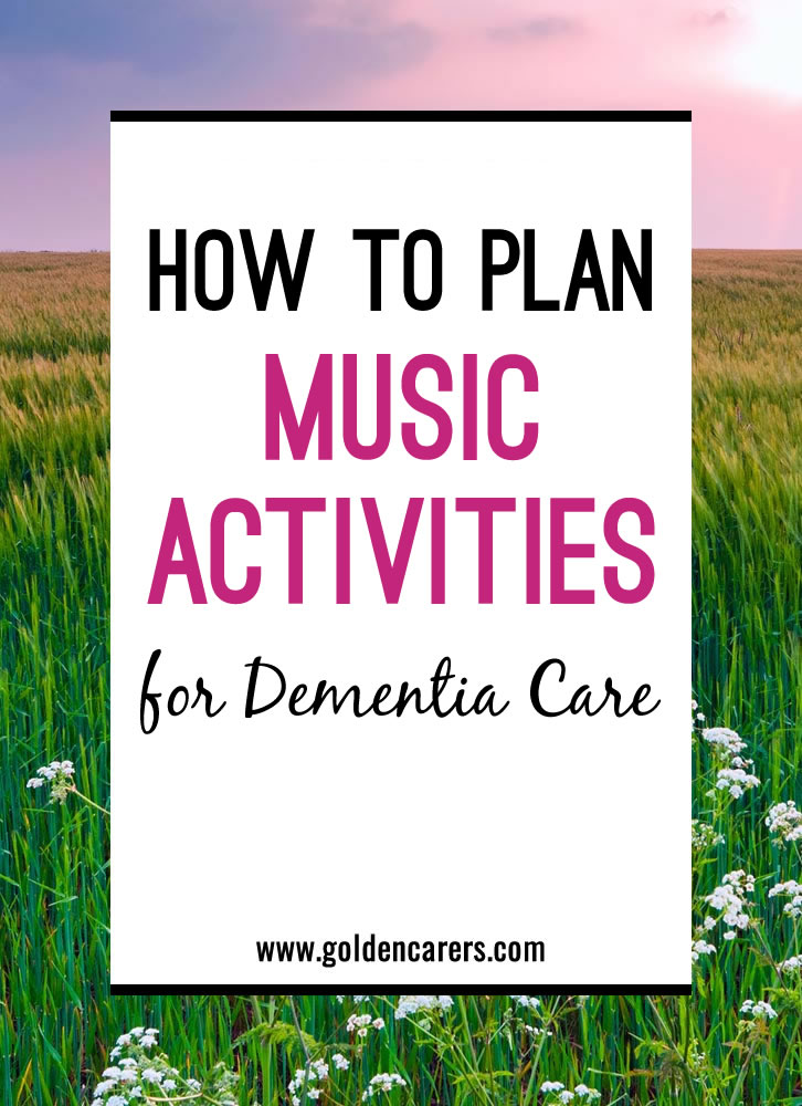 music therapy in dementia care Care interdisciplinary team and they implement programs with groups or individuals that display a vast the american music therapy association (amta) represents over 5,000 music therapists dementia journal of music therapy, 37(3), 183-95.