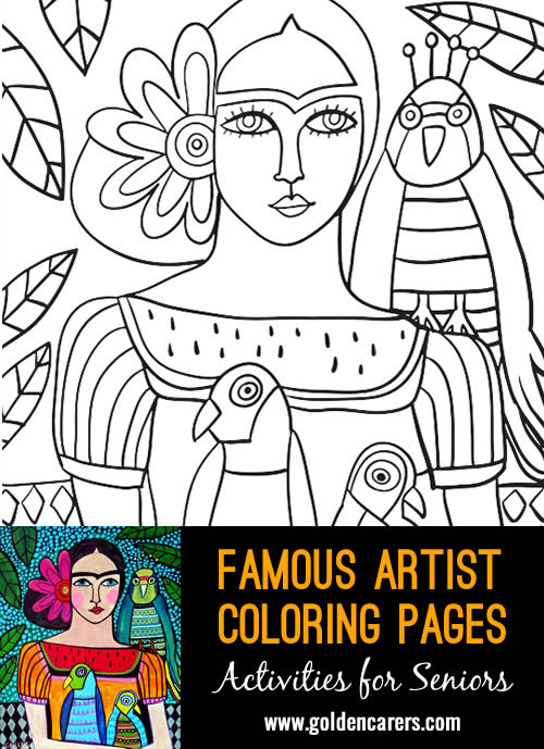 coloring pages artists - photo#18