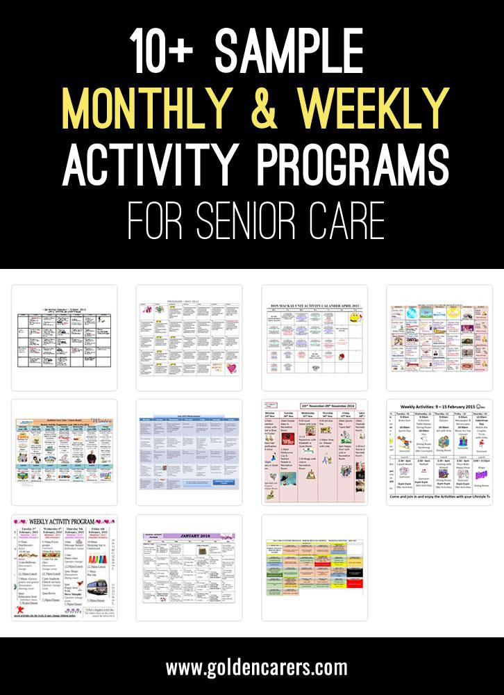 April Calendar Questions : Sample activities calendars