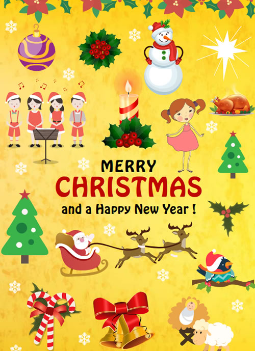 Beautiful Christmas poster for printing!