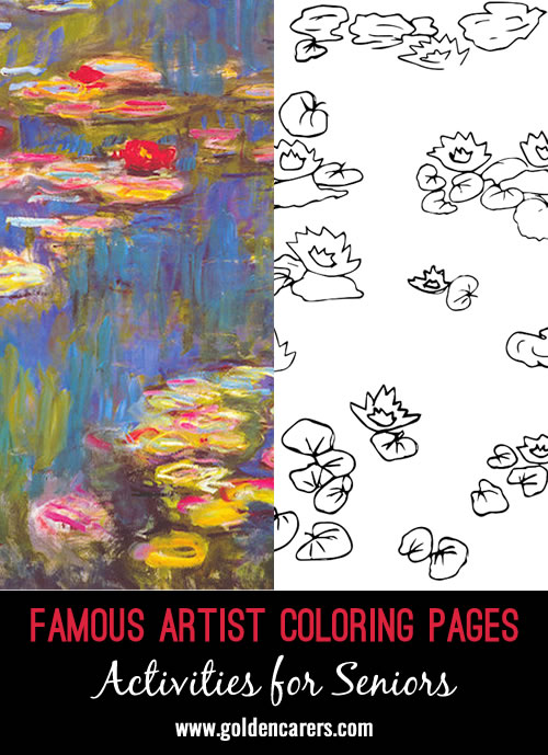 Celebrate Claude Monet's birthday in November by recreating one of his famous paintings!