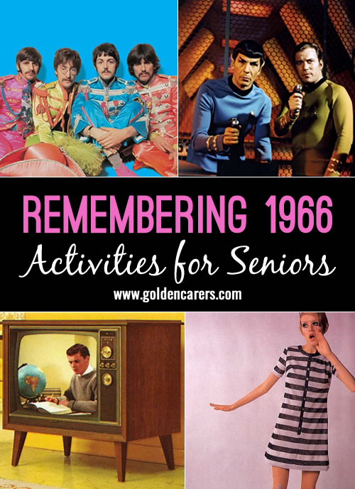 Let's reminisce about what was happening in the world 50 years ago. Discover more interesting anecdotes that  your clients remember and add to the list below. A wonderful reminiscing activity for seniors!