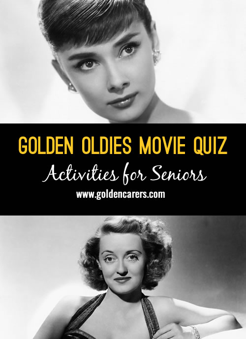 Golden Oldies Movie Quiz