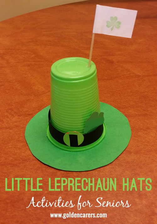 These little Leprechaun hats look great as a mass display or as table centrepieces for any Irish celebration including St Patrick's Day on 17th March.