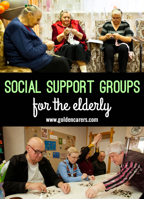 Social Support Groups provide opportunities for seniors to remain engaged in the community and pursue their interests. They cater for the ageing population and people living with disabilities.