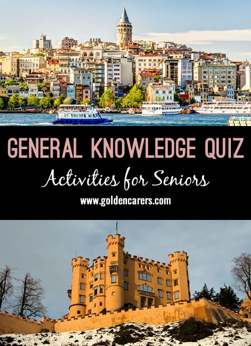 Another fun and multicultural general knowledge quiz for seniors! A fun group activity!