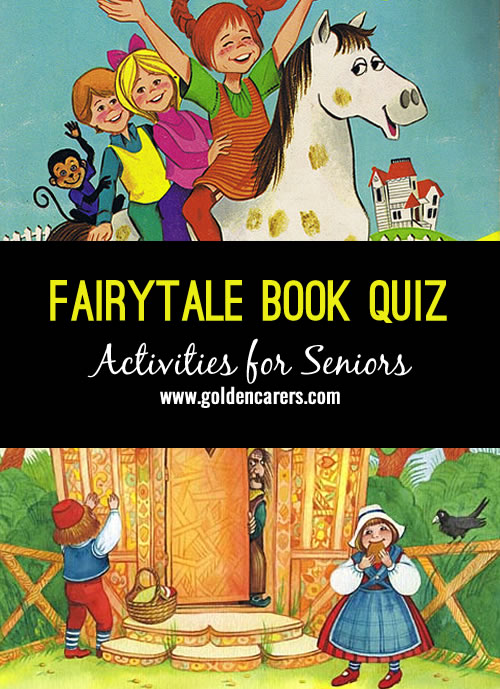Another lovely fairytale quiz, a wonderful reminiscing activity for the elderly!