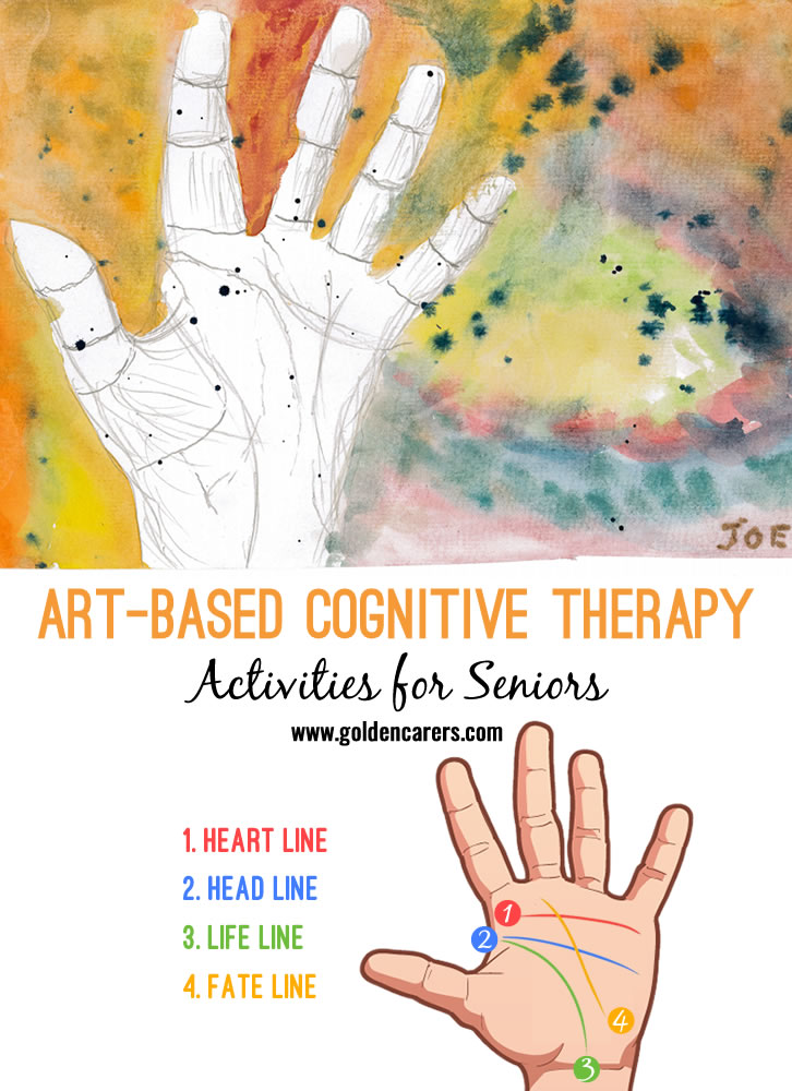 Calendar Templates November : Art based cognitive therapy palm sketch