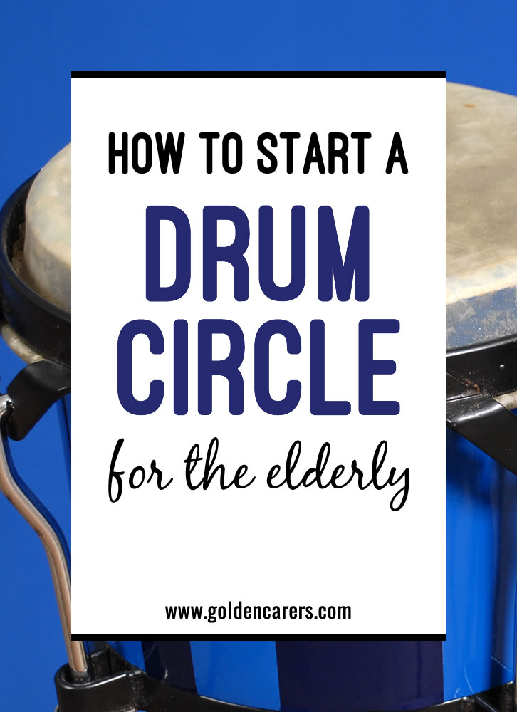 A Drum Circle, as the name suggests, is a circle of people, each with a drum or another percussion instrument and one facilitator.