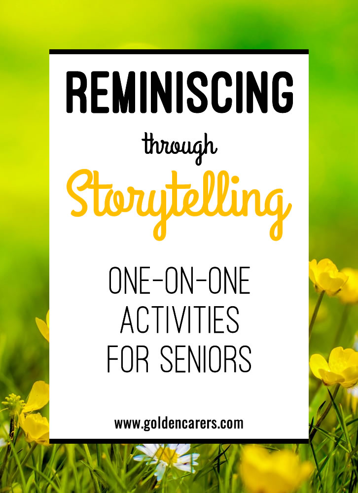 This is a wonderful one-on-one activity for the elderly, including those living with dementia. It promotes memory recall and reinforces self-worth by validating their past lives.