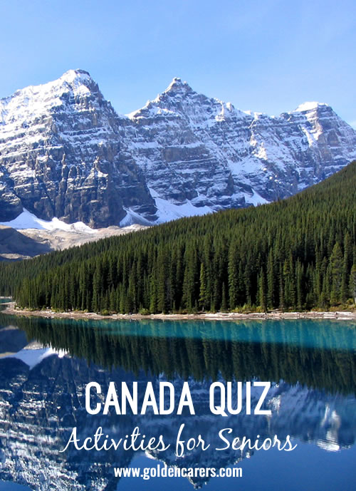 A Canadian themed quiz for the elderly!