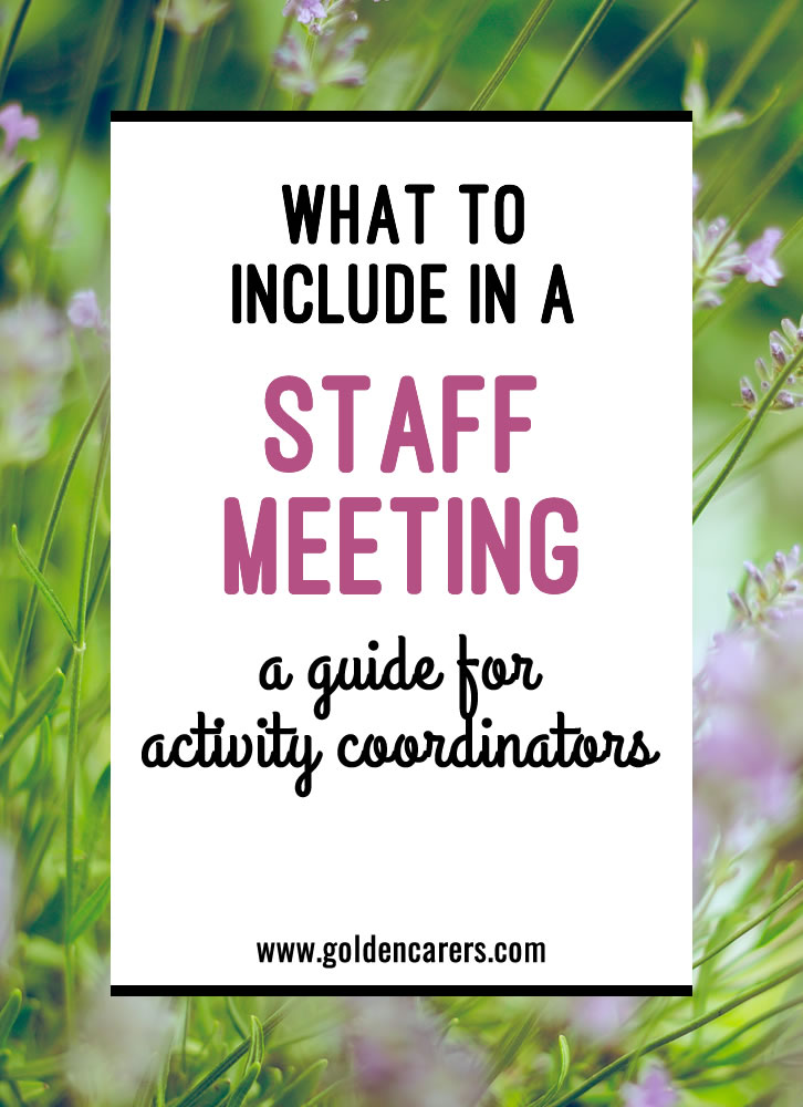 It is necessary to communicate regularly with your staff. You should have a formal meeting at least once per quarter.