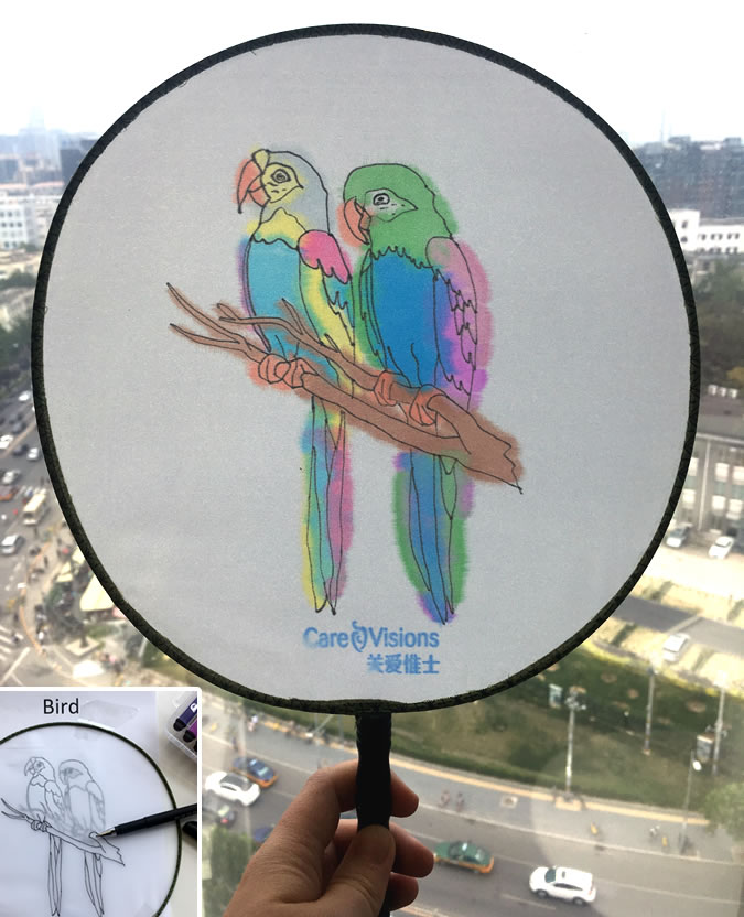 Our creative staff in China came up with this idea due to the hot summer days we get in Beijing.  Cheap craft stores and dollar shops sometimes have these in the craft section.