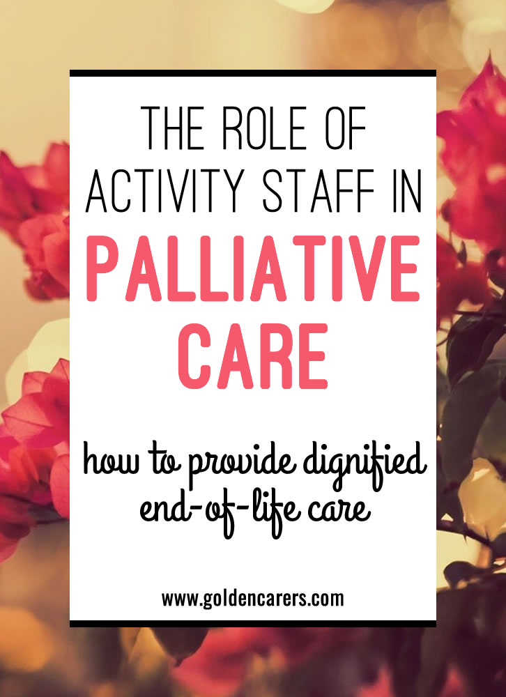 This article is designed to help make your engagement with people in palliative care easier.