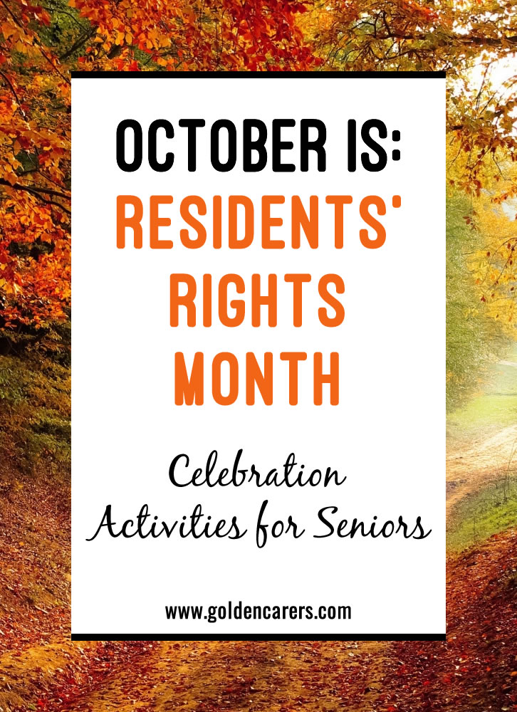 How to Celebrate Residents' Rights Month