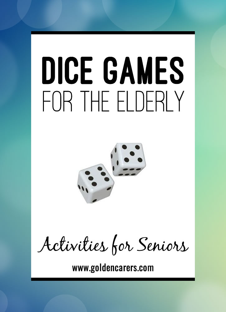 Dice games are fun and versatile! They provide social opportunities and stimulate the senses. There are hundreds of easy and entertaining dice games that can be enjoyed.