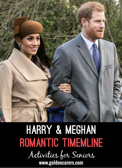 Acquaint your clients with the timeline of the romance between Prince Harry and Meghan Markle. It is the wedding of the year!