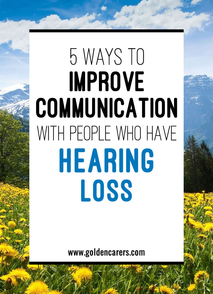 This article discusses some different ways we can adjust our communication style, both verbal and emotional,  to make seniors with hearing loss feel comfortable.